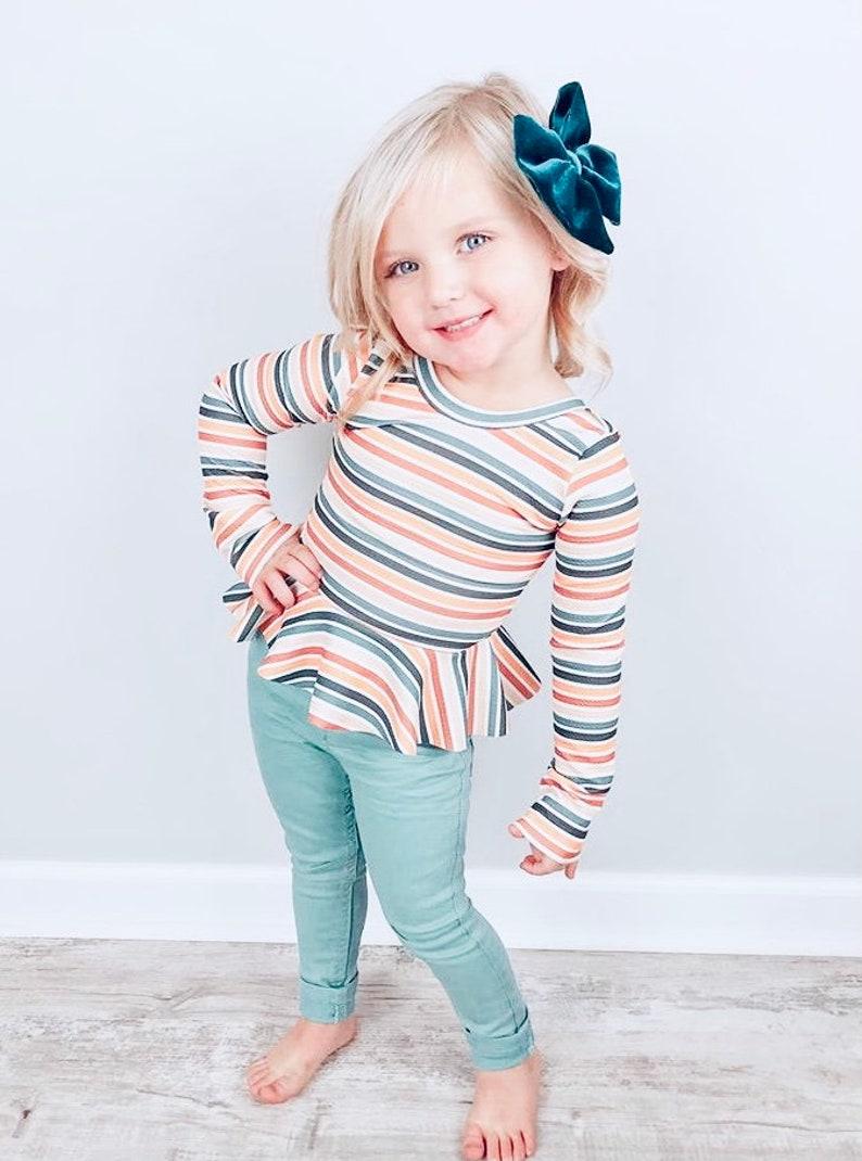 Baby Headband Big Bows Toddler Hair Bow Girls Hair Bows Piggy Bows Orange /& White Polka Dot Bow Headwrap Big Bow Clip Baby Bows