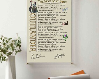 Housewarming Gift Skye Boat Song Gift For Lover Bear McCreary Lyrics Poster Wall Decor Home/&Living Wedding Anniversary Gift