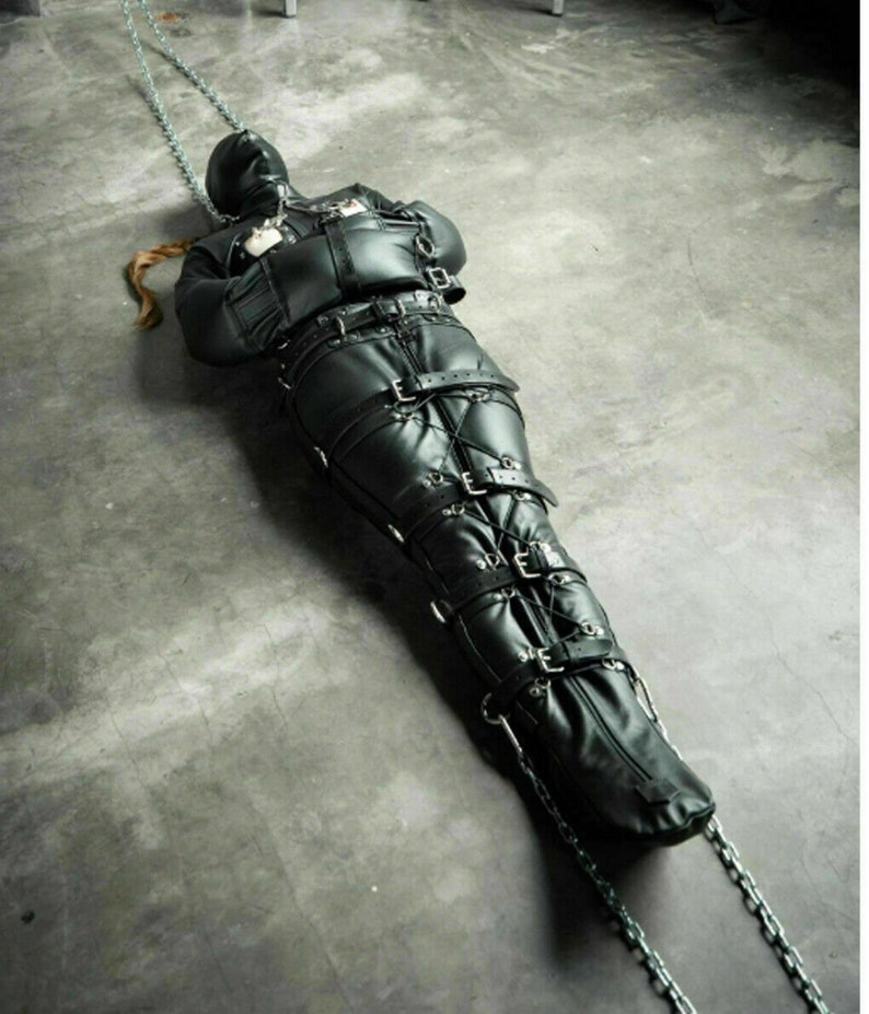 Leather Bondage Bag Sleep Sack BDSM Bodybag & Open Chest