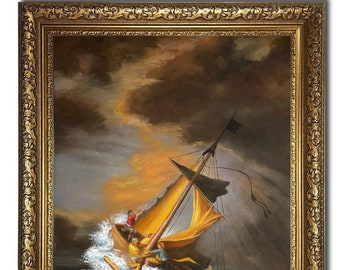 1633 The Storm on the Sea of Galilee by Rembrandt Masterpiece Reproduction