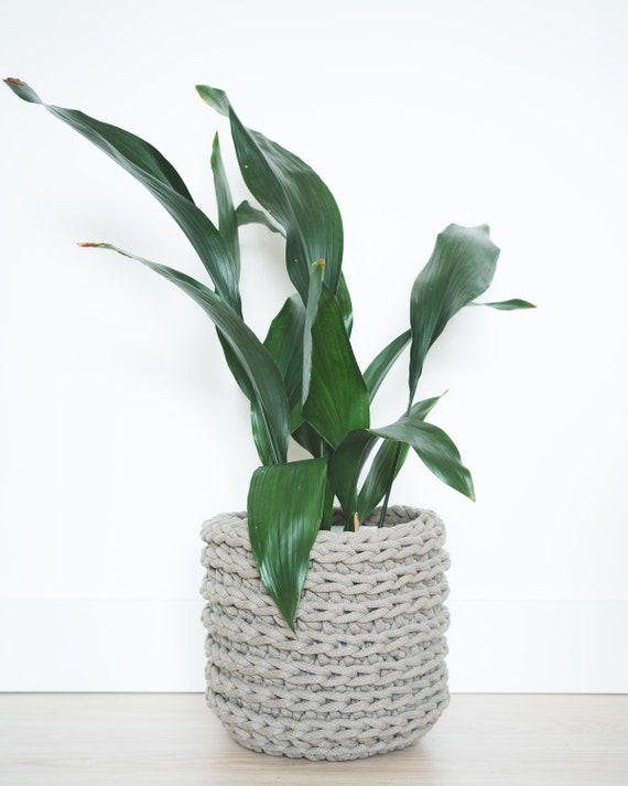 Indoor plant pot | Large | Taupe