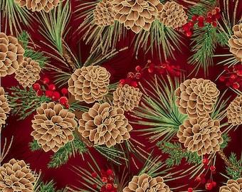 Joyful Traditions by Hoffman California, per half yard, 100% cotton