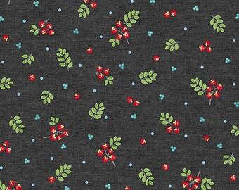 First Frost - Berries Gray - by Amanda Murphy for Benartex fabrics, per half yard, 100% cotton
