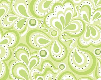 First Frost - River Lime - by Amanda Murphy for Benartex fabrics, per half yard, 100% cotton