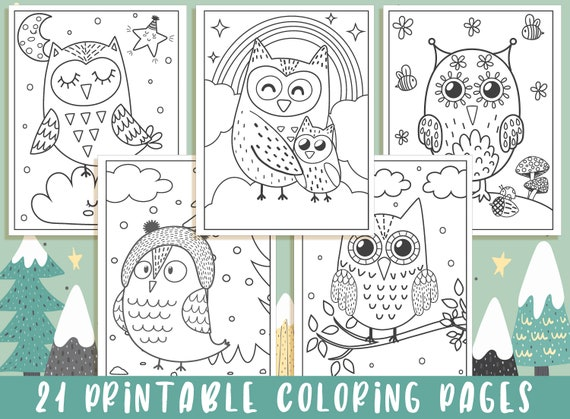 Owl Coloring Pages  21 Printable Owl Coloring Pages for Kids