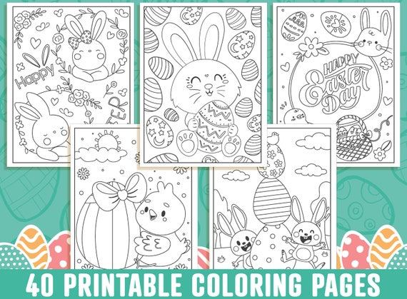 Easter Coloring Pages 40 Printable Easter Coloring Pages for