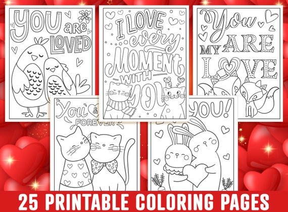 Valentine's Day Coloring Pages 25 Printable Valentine