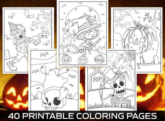 Halloween Coloring Pages  40 Printable Halloween Coloring