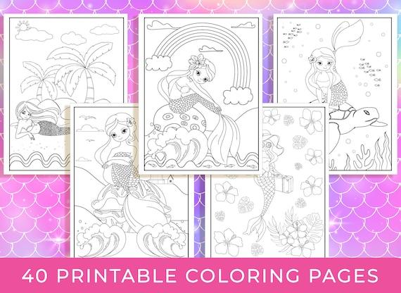 Mermaid Coloring Pages  40 Printable Mermaid Coloring Pages