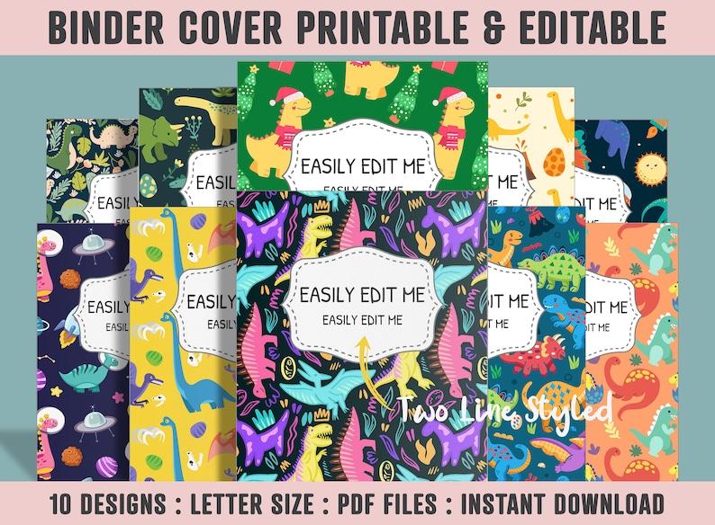 Binder Cover Printable 10 CoversSpines Printable Editable image 0