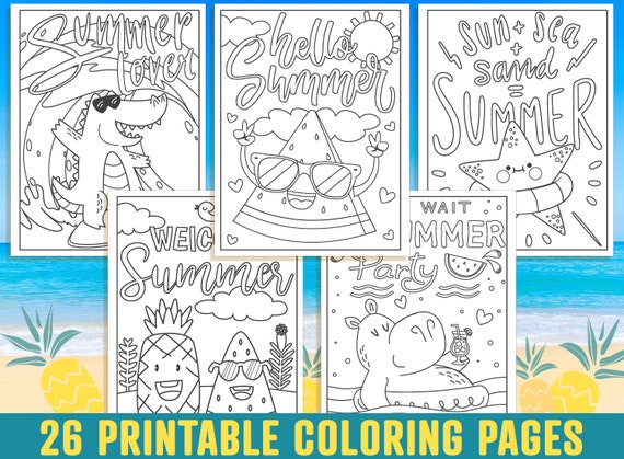 Summer Coloring Pages 26 Printable Summer Holiday Coloring