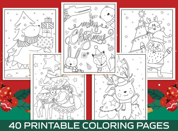Christmas Coloring Pages  40 Printable Christmas Coloring