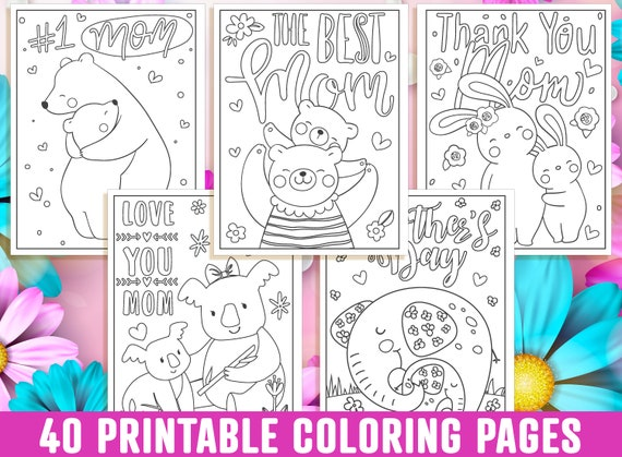 Mother's Day Coloring Pages 40 Printable Mom Coloring