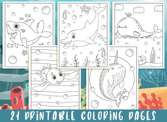 Under The Sea Coloring Pages  21 Printable Under The Sea
