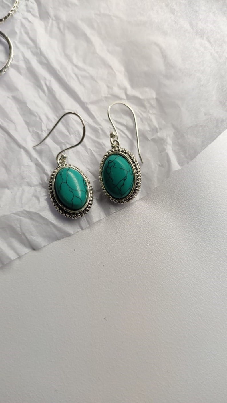 Turquoise gemstone  Drop earrings chritismas gift Large Rainbow Moonstone Earrings 9x13 MM Oval shape smooth moon stone gemstone earrings