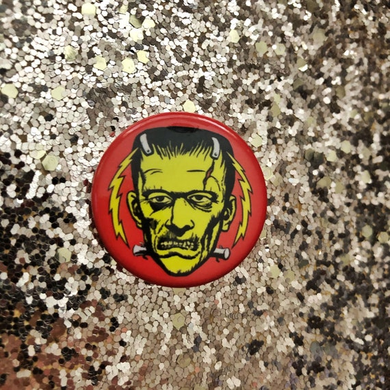 "ELECTRIC FRANKENSTEIN 1.25"" Estrus Button"