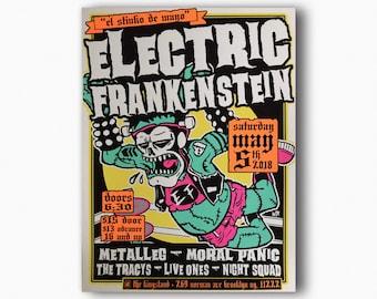 ELECTRIC FRANKENSTEIN @ The Kingsland, Brooklyn, NY Silkscreened Poster