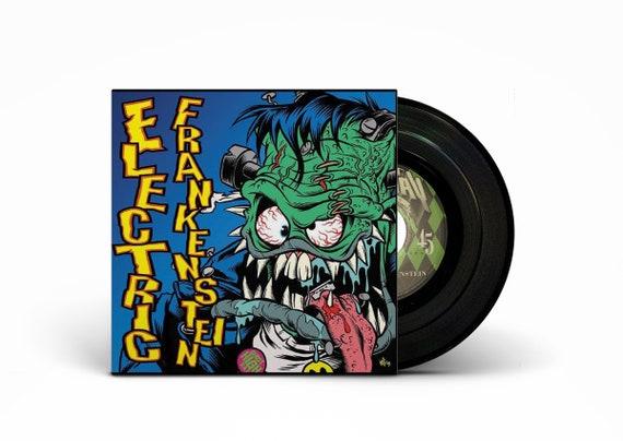 """ELECTRIC FRANKENSTEIN/ Klobber Split 7"""" BLACK Vinyl"""