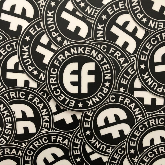 "ELECTRIC FRANKENSTEIN Circle Logo 3"" Sticker"