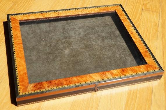 Horchow Veneered Table Display Case