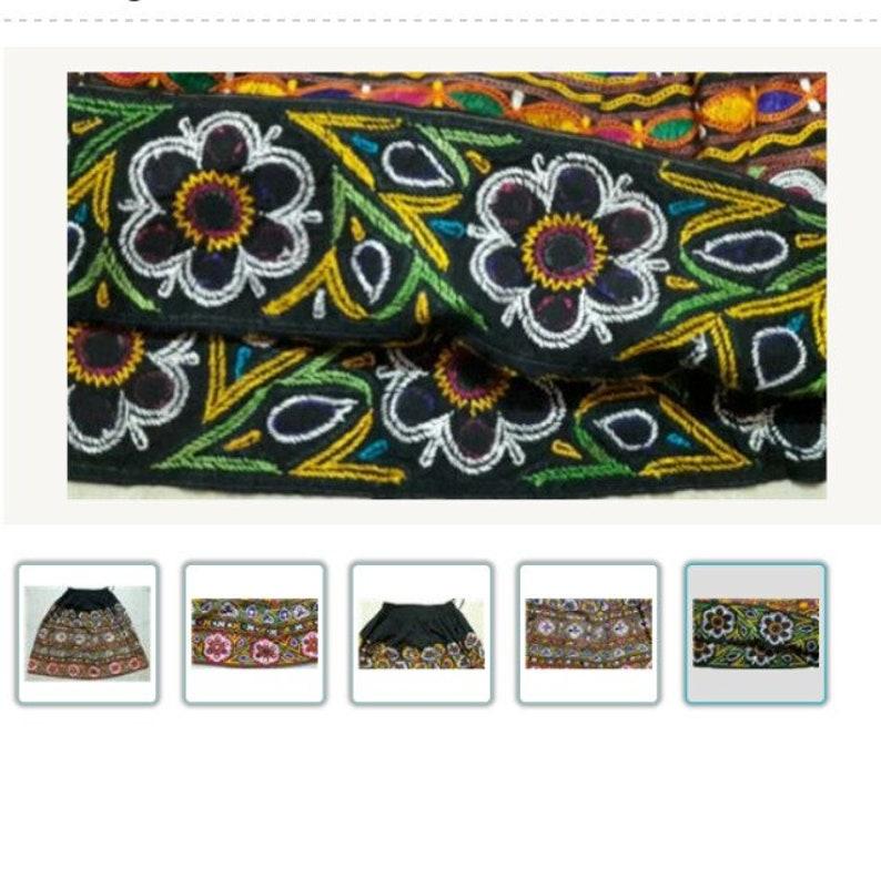 Free Shipping Rare Vintage Banjara Tribal Ethnic Kuchi Belly Dance Heavy Embroidery Indian Traditional Lehnga Skirt