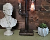 Table Lamp-Steampunk Industrial Decor-Rustic Farmhouse Decor-Edison Style-Man cave Decor-Unique Gift-Desk lamp Free Shipping