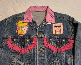 Rhinestone Applique on Mesh #F001 Amber Scholl DIY Kylie Jenner Rhinestone Jean Jacket