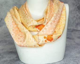 Silk Infinity Scarf Made From Vintage Kimono Silk - Beautiful Gift