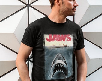 Jaws Horror Movie  Novelty T-Shirt Adult Unisex T-Shirt - Humor T-Shirt