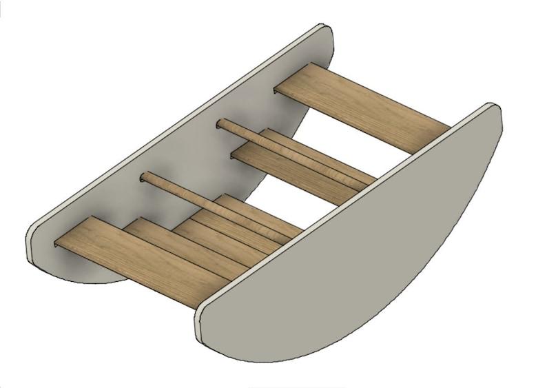 Digital Plans  Montessori Rocking Boat/Steps image 1