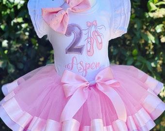Girls Personalised Frozen Ballerina Birthday Tutu Gift Birthday 0-3Mths 9-10Yrs