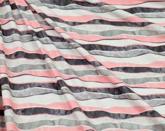 Multicolored striped fabric by the yard
