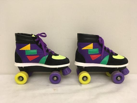 retro skates kitsch roller derby roller skates pacer kids retro rink master skating children 90s Vintage NINJA TURTLE SKATES...rad