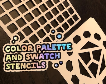 Color Wheel & Palette Swatching Stencils