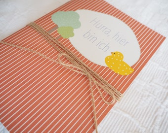 Baby booklet - Hurrah here I am