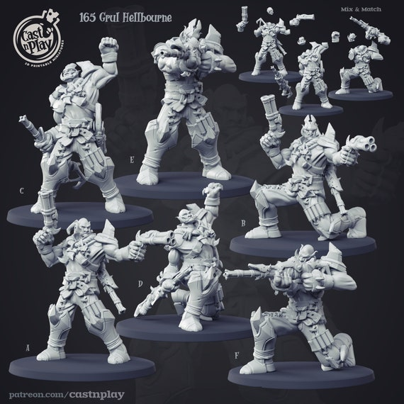 Gronk Ogre Marauders Cannon Buccaneer Pirate Artisan Guild Miniatures D/&D 3D262