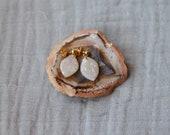 Polymer Clay Earrings, Dangle Earrings, Leaf, Minimalist, Geometric, Modern Boho Southwest Earrings