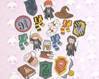 40 Pack Paper Wizard School Inspired Stickers