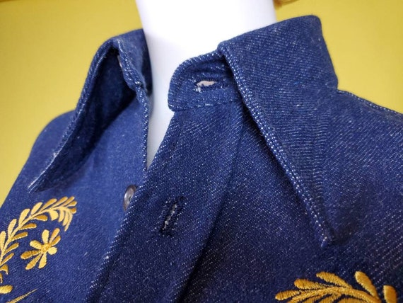 1970s denim suit set with all the bells & whistle… - image 7