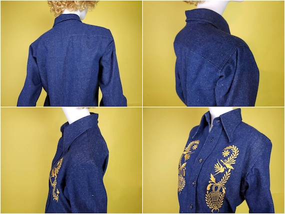 1970s denim suit set with all the bells & whistle… - image 9
