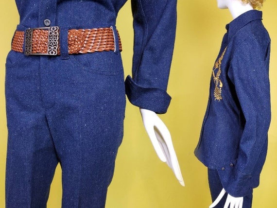 1970s denim suit set with all the bells & whistle… - image 4