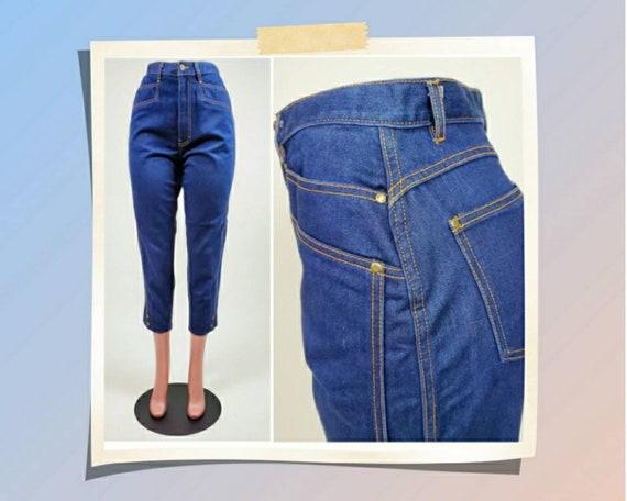 Vintage 80s Gitano jeans. High rise. Dark denim.
