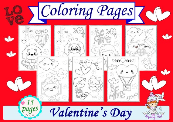 Valentine's Day Coloring Pages PDF Coloring Book