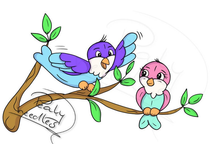 Birdy Couple DigiStamp