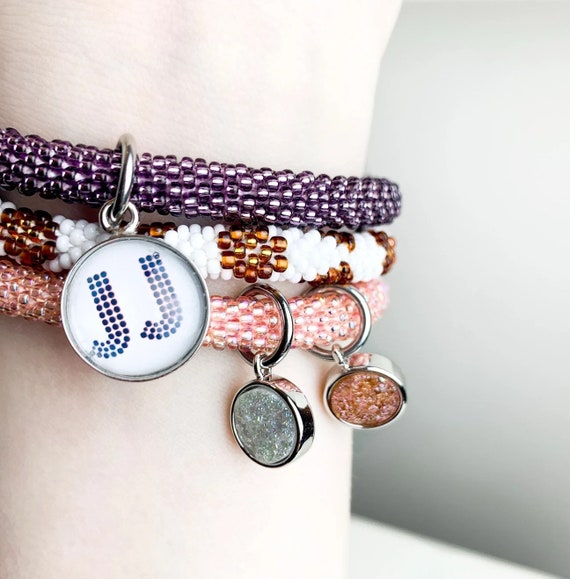 Charm Bracelet - Your Own Initial, Monogram or Text/Quote!