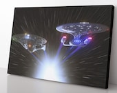 Star Trek Starship Enterprise Canvas Print - Star Trek Poster - Star Trek Painting - Star Trek Wall Art - Decor Gift For Star Trek Fan