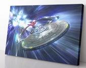 Starship Enterprise Canvas Print - Star Trek Poster - Star Trek Painting - Star Trek Wall Art - Star Trek Decor - Gift For Star Trek Fan