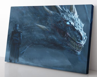 Fantasy Top Tv Series Night King Art Poster /& Canvas Pictures Game Of Thrones