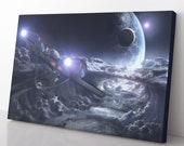 Star Trek Enterprise Canvas Print - Star Trek Poster - Star Trek Painting - Star Trek Wall Art - Star Trek Decor - Gift For Star Trek Fan