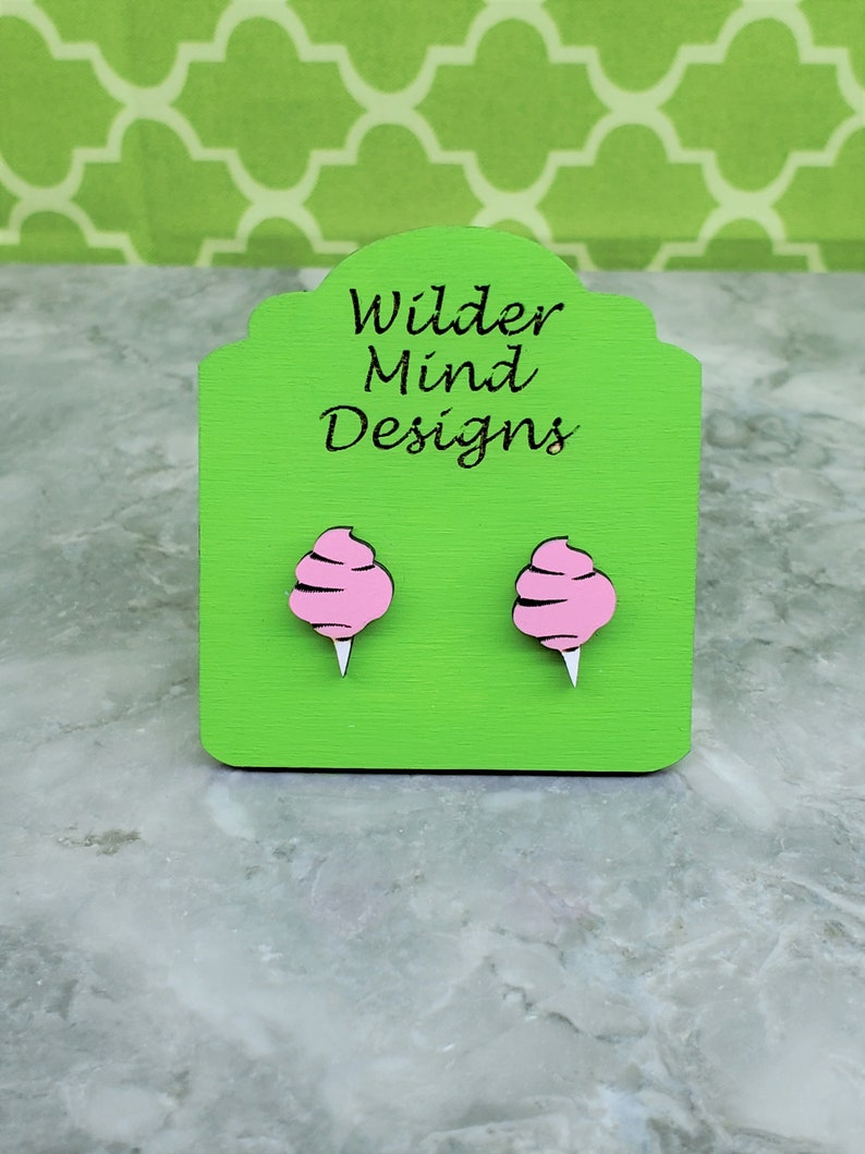 Earrings for girls Cotton Candy Studs Boardwalk Earrings Cute Earrings Carnival Earrings Cotton Candy Earrings